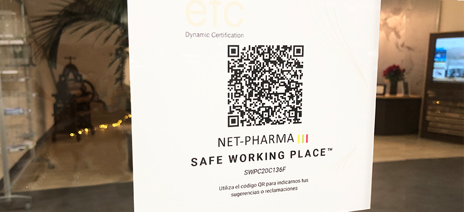 Net-Pharma obtiene el Certificado Safe Working Place